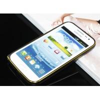 Металлический бампер с золотой окантовкой для Samsung Galaxy Win Черный