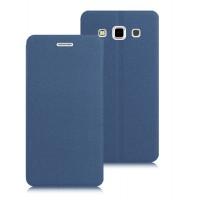 Текстурный чехол флип подставка на присоске для Samsung Galaxy Win Синий