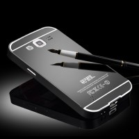 Гибридный металлический двухкомпонентный чехол с поликарбонатной крышкой с зеркальным покрытием для Samsung Galaxy Win Черный