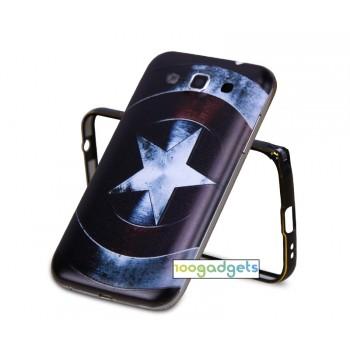 Двухкомпонентный чехол с металлическим бампером и встраиваемой поликарбонатной накладкой с принтом для Samsung Galaxy Win