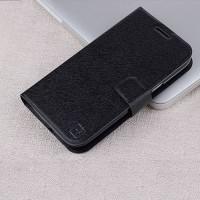 Текстурный чехол флип подставка на пластиковой основе с магнитной застежкой и отделением для карт для Samsung Galaxy Win Черный