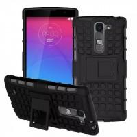 Антиударный силиконовый чехол экстрим защита с подставкой для LG Magna Черный