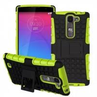 Антиударный силиконовый чехол экстрим защита с подставкой для LG Magna Зеленый