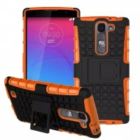 Антиударный силиконовый чехол экстрим защита с подставкой для LG Magna Оранжевый