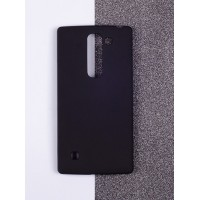 Пластиковый матовый непрозрачный чехол для LG Magna Черный