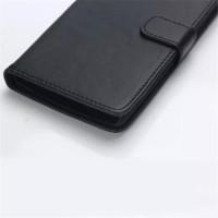 Винтажный чехол портмоне подставка на пластиковой основе с защелкой для LG Magna Черный