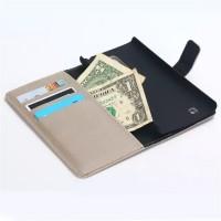 Винтажный чехол портмоне подставка на пластиковой основе с защелкой для LG Magna Серый