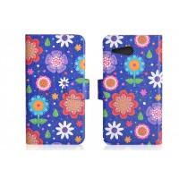 Дизайнерский чехол портмоне подставка с полноповерхностным принтом и отделением для карт для HTC One mini 2