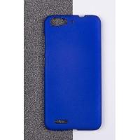 Пластиковый матовый непрозрачный чехол для ZTE Blade X7/Z7 Синий