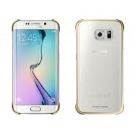 Оригинальный пластиковый транспарентный чехол с цветными границами (металлизированное напыление) для Samsung Galaxy S6 Edge Plus