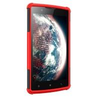 Антиударный силиконовый чехол экстрим защита с подставкой для Lenovo A2010 Красный