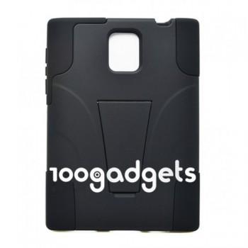 Гибридный антиударный силиконовый чехол с поликарбонатной крышкой и ножкой-подставкой для Blackberry Passport