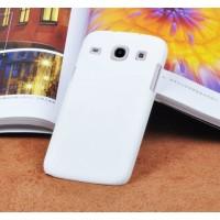 Пластиковый матовый непрозрачный чехол для Samsung Galaxy Core Белый