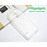 Силиконовый полупрозрачный чехол для Samsung Galaxy S5 Mini Белый