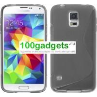 Силиконовый чехол S для Samsung Galaxy S5 Mini Серый