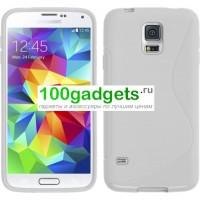 Силиконовый чехол S для Samsung Galaxy S5 Mini Белый