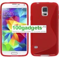 Силиконовый чехол S для Samsung Galaxy S5 Mini Красный