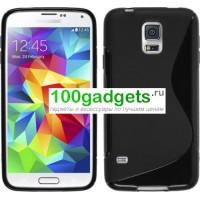 Силиконовый чехол S для Samsung Galaxy S5 Mini Черный