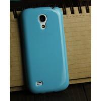 Силиконовый непрозрачный чехол для Samsung Galaxy S4 Mini Голубой