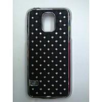 Пластиковый чехол со стразами для Samsung Galaxy S5 Mini Черный