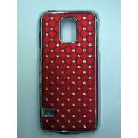 Пластиковый чехол со стразами для Samsung Galaxy S5 Mini Красный