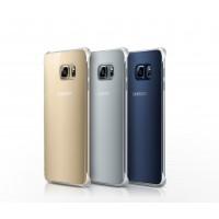 Оригинальный пластиковый транспарентный чехол с цветным олеофобным напылением для Samsung Galaxy S6 Edge Plus