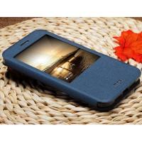 Чехол флип подставка на силиконовой основе с окном вызова и магнитной застежкой для Huawei G8 Синий