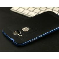 Двухкомпонентный чехол с силиконовой накладкой и поликарбонатным бампером для Huawei G8 Синий