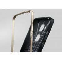 Двухкомпонентный чехол с силиконовой накладкой и поликарбонатным бампером для Huawei G8 Бежевый
