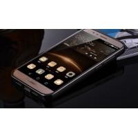 Гибридный металлический двухкомпонентный чехол и поликарбонатной крышкой с зеркальным покрытием для Huawei G8 Черный