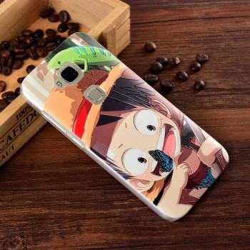 Пластиковый матовый дизайнерский чехол с эксклюзивной серией принтов для Huawei G8