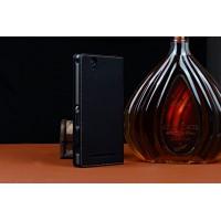Кожаный чехол портмоне (нат. кожа) для Sony Xperia C4 Черный