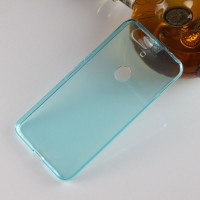 Силиконовый матовый полупрозрачный чехол для Google Huawei Nexus 6P Голубой