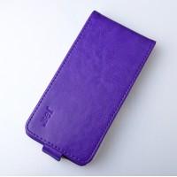 Чехол вертикальная книжка на силиконовой основе с магнитной застежкой для Lenovo S580 Ideaphone Фиолетовый