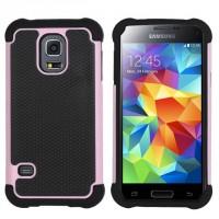 Силиконовый чехол экстрим защита для Samsung Galaxy S5 Розовый