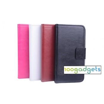 Глянцевый чехол портмоне подставка на силиконовой основе с магнитной застежкой и отделением для карт для Lenovo S580 Ideaphone