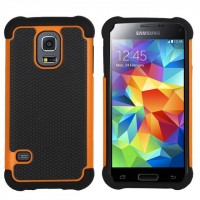 Силиконовый чехол экстрим защита для Samsung Galaxy S5 Оранжевый
