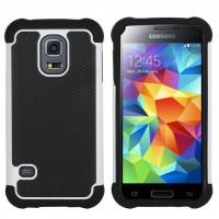 Силиконовый чехол экстрим защита для Samsung Galaxy S5 Белый