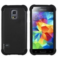 Силиконовый чехол экстрим защита для Samsung Galaxy S5 Черный