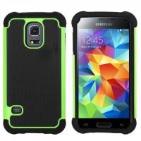 Силиконовый чехол экстрим защита для Samsung Galaxy S5 Зеленый