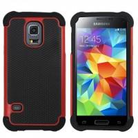 Силиконовый чехол экстрим защита для Samsung Galaxy S5 Красный