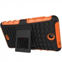Антиударный силиконовый чехол экстрим защита с подставкой для Microsoft Lumia 430 Dual SIM Оранжевый