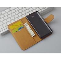 Глянцевый чехол портмоне подставка с защелкой на пластиковой основе для Microsoft Lumia 430 Dual SIM
