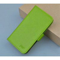 Глянцевый чехол портмоне подставка с защелкой для Microsoft Lumia 532 Зеленый