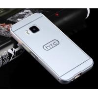 Двухкомпонентный чехол с металлическим бампером и поликарбонатной накладкой для HTC One M9 Белый
