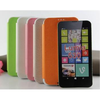 Текстурный чехол флип подставка на силиконовой основе для Nokia Lumia 530