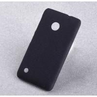 Пластиковый матовый чехол с повышенной шероховатостью для Nokia Lumia 530 Черный
