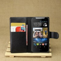 Чехол портмоне подставка с защелкой для HTC Desire 310 Черный