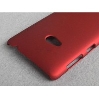 Пластиковый матовый непрозрачный чехол для Nokia Lumia 625 Красный