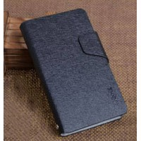 Текстурный чехол флип подставка на пластиковой основе с магнитной застежкой и отделением для карт для Nokia Lumia 625 Черный